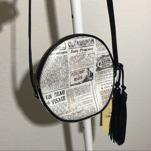 Newsprint Crossbody Bag
